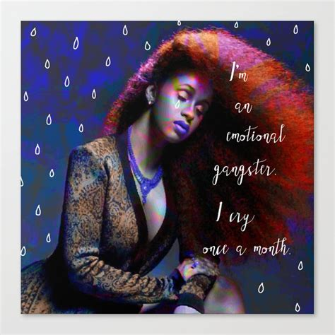 Cardi B - emotional gangster quote Canvas Print by mintzy ...