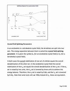 Match The Appropriate Octahedral Crystal Field Splitting