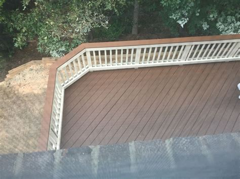two toned deck sherwin williams pine cone deck stain with