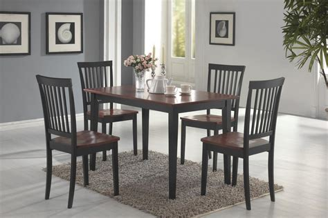 pc tobacco black dining room table set  savvy