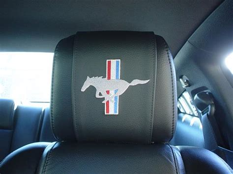 Head Rest Cover Wraps The Mustang Source Ford