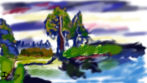 Secluded Lake In Photoshop By Mimirinpro On