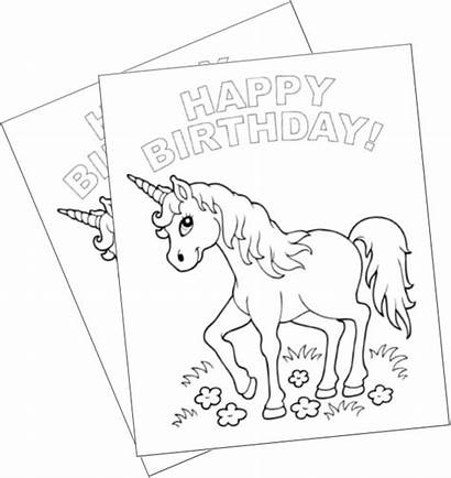 Unicorn Birthday Coloring Pages Party Games Happy