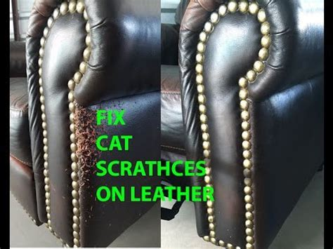 fix scuffed leather cat scratch leather repair easy and 3762