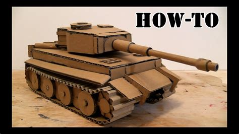 How To Make A Battle Tank With Cardboard On The Hydraulic