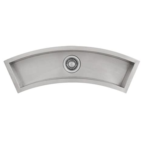 stainless steel trough sink ticor undermount curved trough stainless steel kitchen