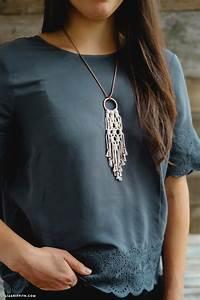 Simple DIY Macrame Necklace - Lia Griffith