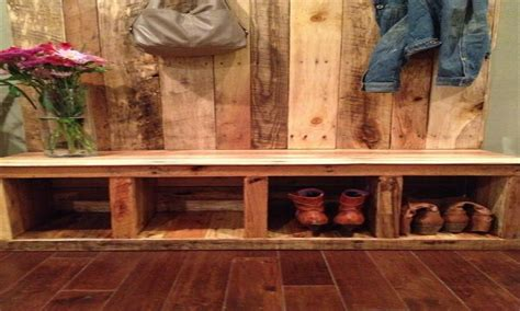 entry storage bench rustic entryway benches pallet