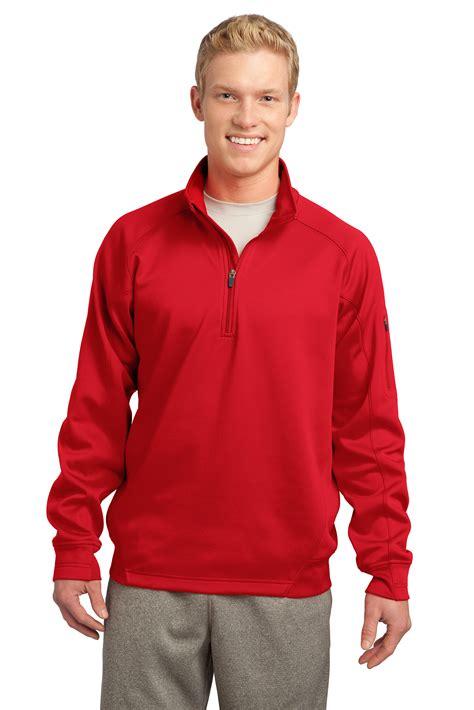 sport tek mens tech fleece quarter zip pullover