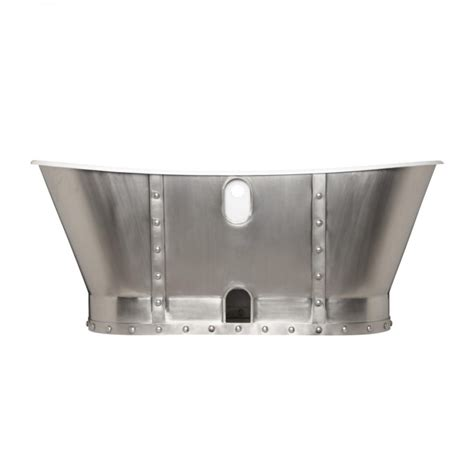 stainless steel tub prices 67 quot brayden bateau cast iron skirted tub with stainless