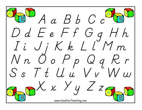 Alphabet Letter Poster
