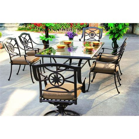 darlee ten 7 cast aluminum patio dining set