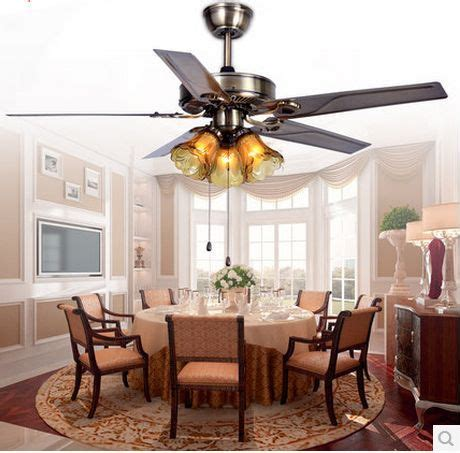 living room fans with lights 52inch fan light with remote control iron leaf ceiling fan