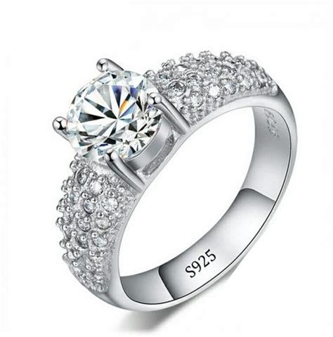 Highend Wedding Jewelry 925 Sterling Silver Ring With