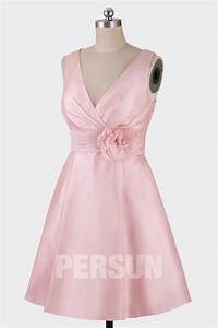 elegante robe rose pastel d39invite mariage courte col v With robe couleur pastel pour mariage