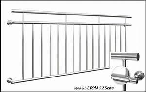 Französischer Balkon Vorschriften : franz sischer balkon lyon 225x90cm edelstahl gel nder stabgel nder geb rstet ebay ~ Orissabook.com Haus und Dekorationen