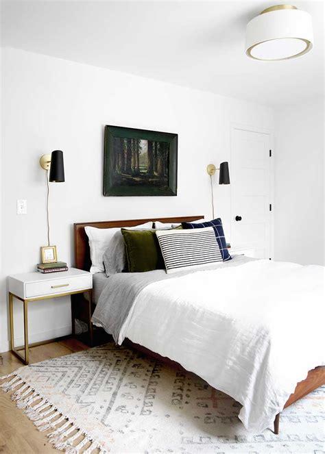 minimal masculine master bedroom  fauxmartha