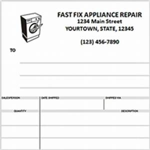 custom invoices printing home With appliance repair invoice