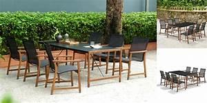 Leclerc Table De Jardin : salon de jardin bois cap ferret table en duranite 6 chaises ~ Teatrodelosmanantiales.com Idées de Décoration