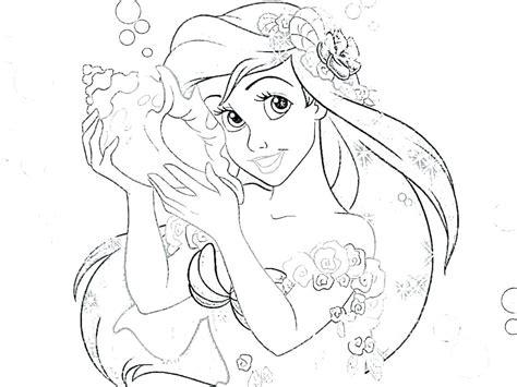 Beautiful Princess Ariel Coloring Pages