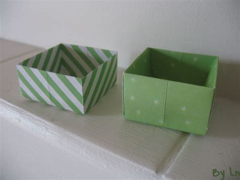 des tutos de boites en papier origami