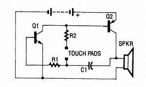 simple lie detector medical electrical equipment With 2n3906 2n3904 transistor q1 of the headset amplifier circuit amplifies
