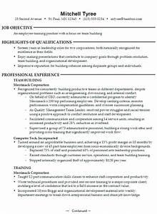 resume employee training focus on team building With on the job training resume sample
