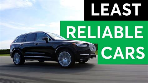 Least Reliable Cars by Consumer Reports 2018 Least Reliable Cars