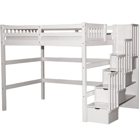 full staircase loft bed white bunk beds lofts  usa
