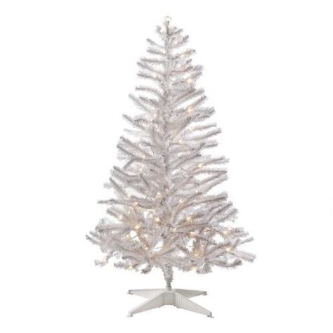4 5 pre lit white artificial tree with clear lights