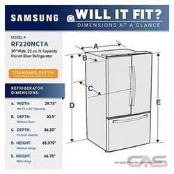 samsung rf220nctasr french door refrigerator 30 quot width