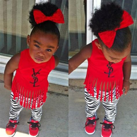 Cool kid fashion baby swag girl red ysl | Toddler Girl fashion | Pinterest | Baby swag girl and ...