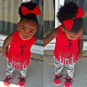 cool kid fashion baby swag girl red ysl | Toddler Girl ...