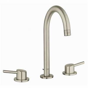 Grohe Concetto Küchenarmatur : shop grohe concetto brushed nickel 2 handle widespread watersense bathroom faucet drain ~ Watch28wear.com Haus und Dekorationen