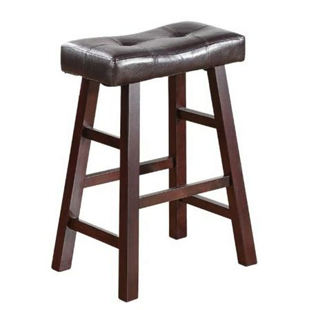 24 Stools For The Kitchen by New Wood Kitchen Counter 2 Bar Stool Seat Set Leather