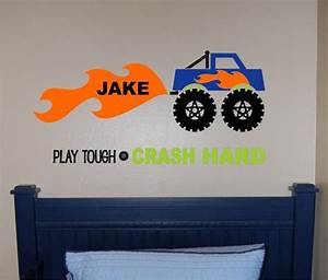 1000 ideas about monster truck bedroom on pinterest With awesome monster truck wall decals ideas