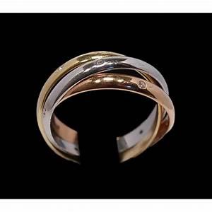Bague 3 Ors Cartier : bague cartier trinity 3 ors et diamants ~ Carolinahurricanesstore.com Idées de Décoration
