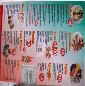 menu and 8 different types of smoothies you can see their lunch menu