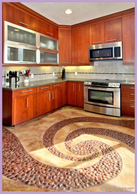 tile flooring for kitchen ideas creative flooring ideas 1homedesigns 8483