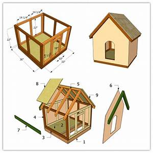 How to make a simple doghouse step by step diy tutorial for How to build a dog house step by step