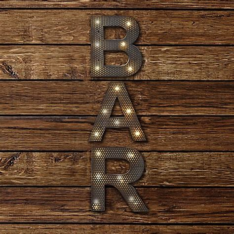 Home Bar Canada by Buy Bar Led Marquee Sign From Bed Bath Beyond