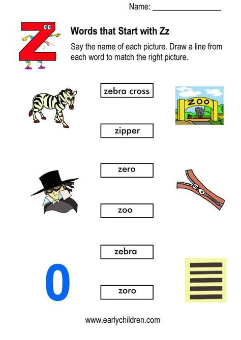 matching pictures  words started   letter