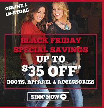 boot barn black friday bootbarn hurry black friday deals end tonight milled