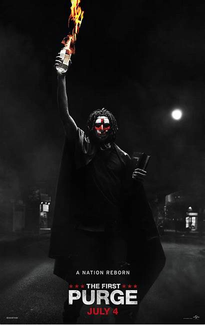 Purge Poster Released Ign Molotov Paint Face