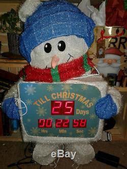 countdown to christmas snowman lighted digital clock yard decor countdown to tinsel snowman digital clock decoration