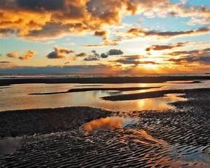 Beach sunset wallpaper desktop |See To World