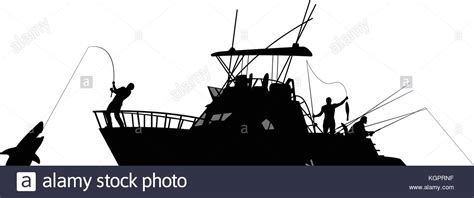 Fishing Boat Silhouette by Silhouette Of Fishing Black And White Stock Photos