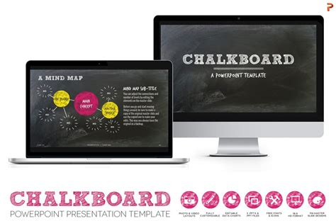 chalkboard powerpoint template powerpoint templates