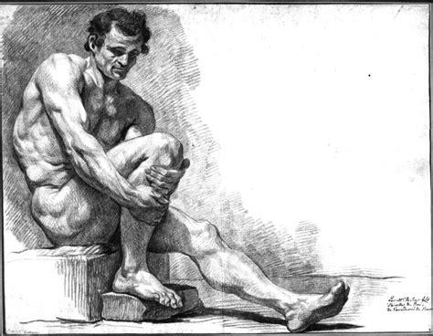 homme nu assis 28 images acad 233 mies masculines homme nu assis de dos par charles fran 231