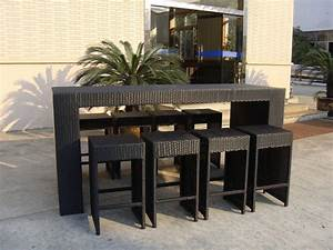 Rattan Bar Set : resin wicker bar set with power coated aluminum or steel frame ~ Indierocktalk.com Haus und Dekorationen